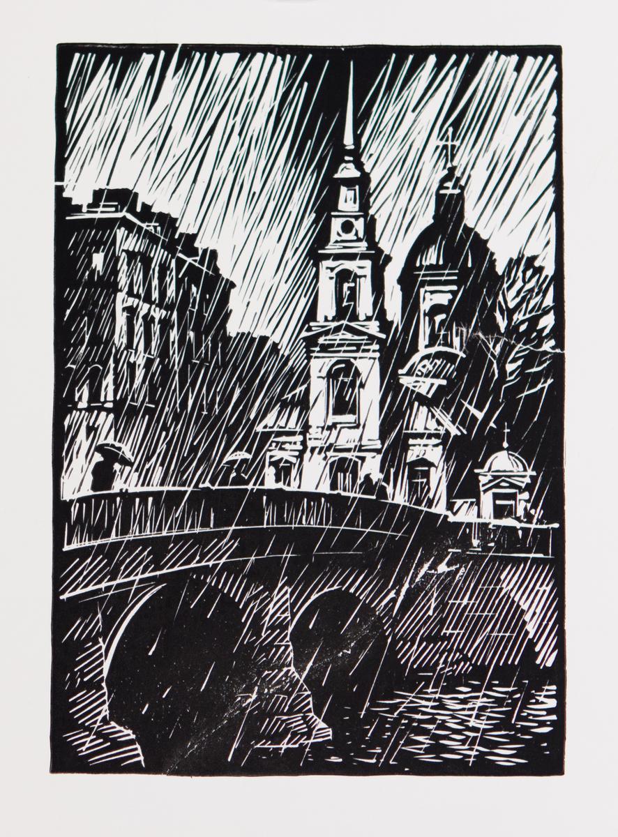 Городской пейзаж. Дождь.